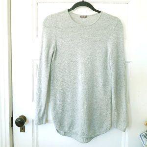 J. McLaughlin Silver Gray Cashmere Sweater Pullove